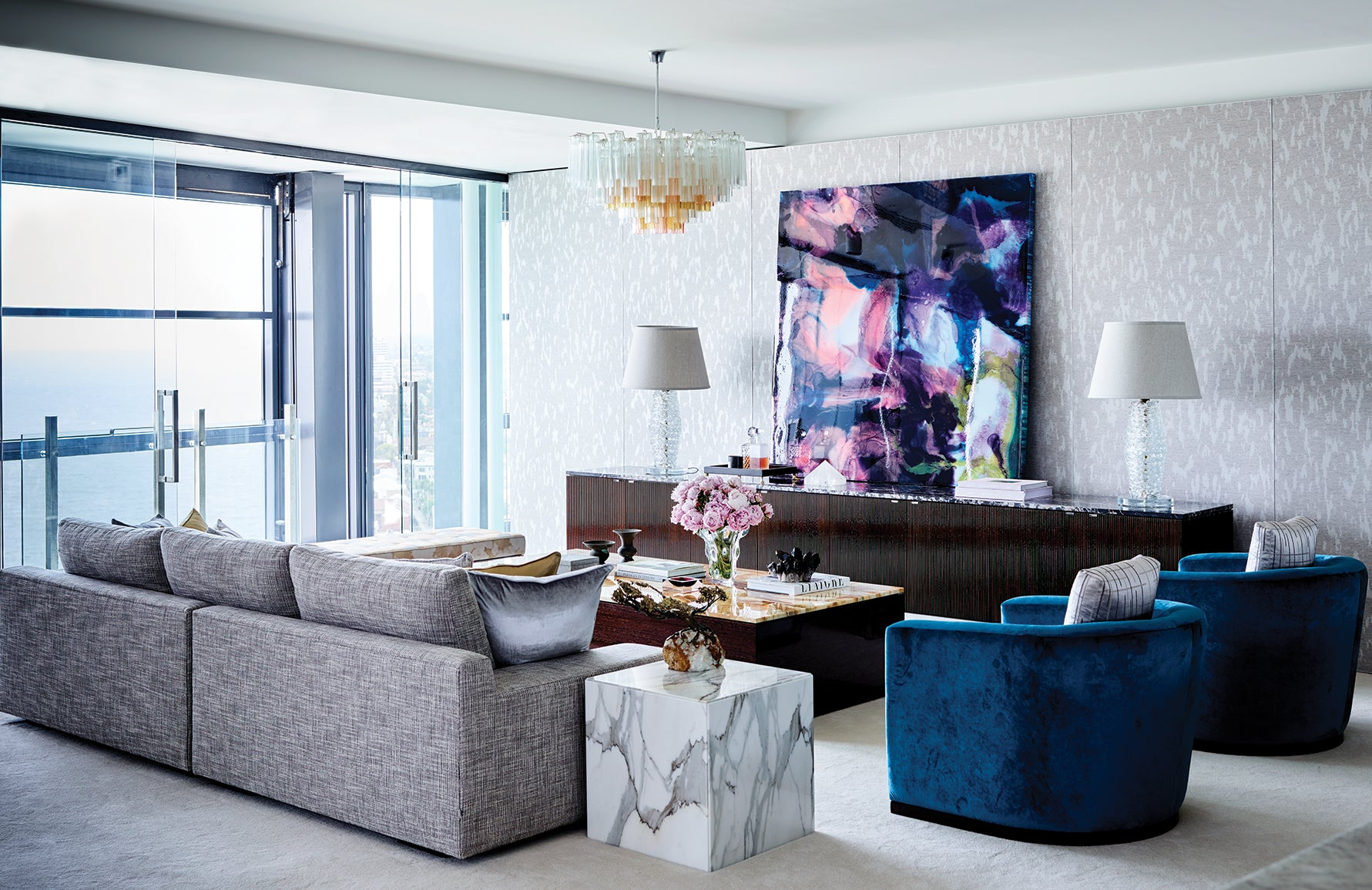 Popular Abstract Art Styles – Dimensional – David Hicks – LuxDeco.com Style Guide
