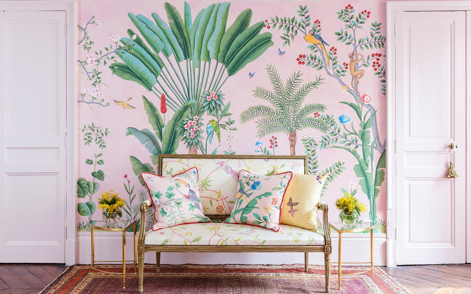 Tropical Print Cushions - How to Decorate with Tropical Prints in your Home Interior - LuxDeco Style Guide