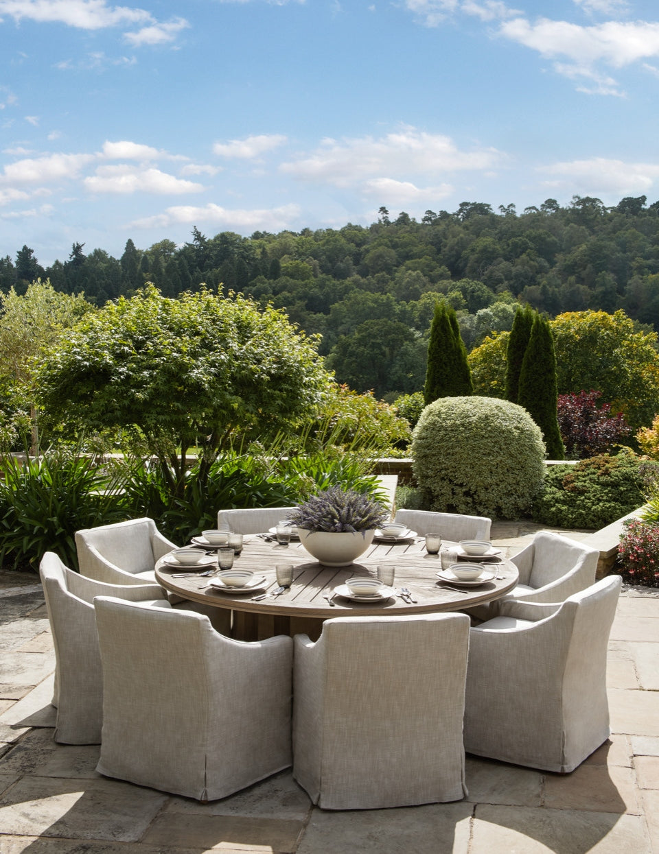 Update your formal outdoor tablescape - Garden Dining Ideas - LuxDeco Style Guide