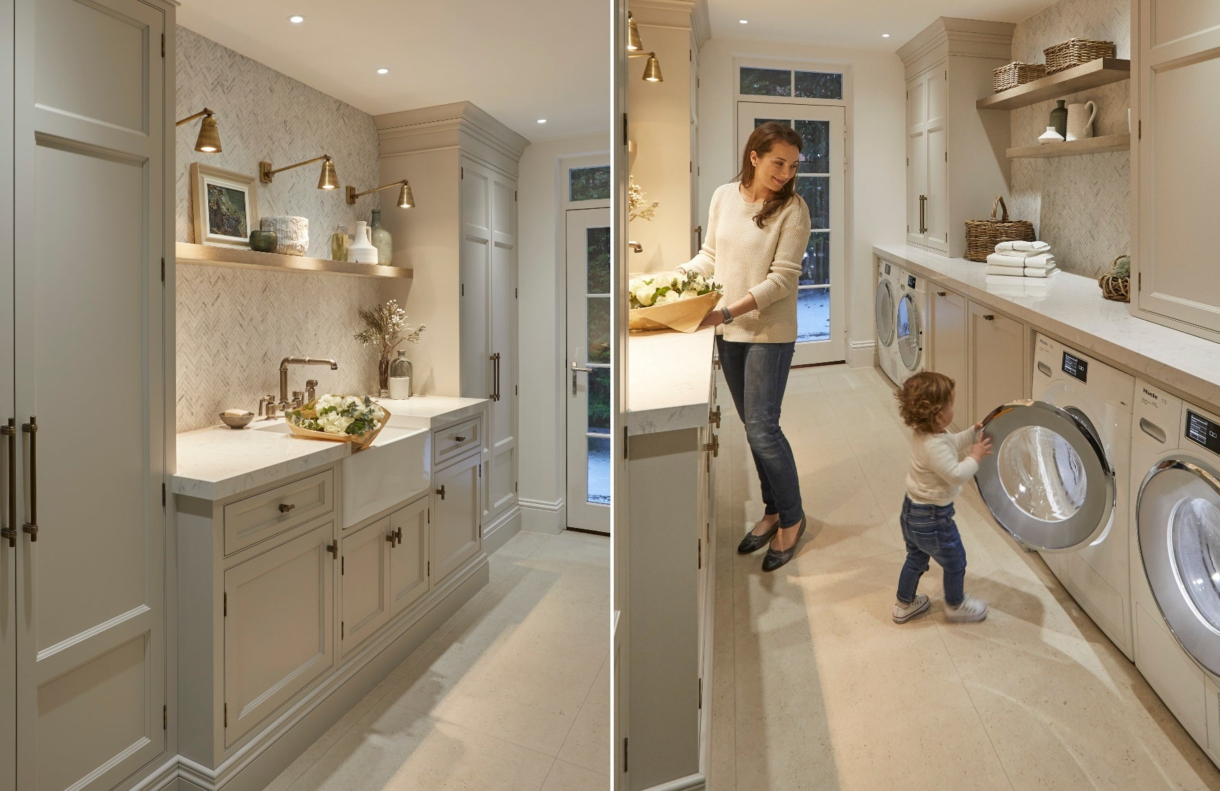Luxury Utility Room Ideas and Designs For Dreamy Chore Time with Sophie Paterson | Bespoke Utility Room Cabinetry | Read more in the LuxDeco Style Guide