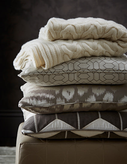 Winter Decorating Ideas | Warm up your room with cosy textiles | Shop luxury throws and blankets online at LuxDeco.com