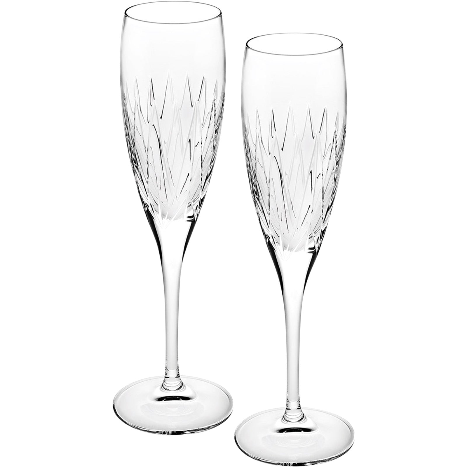 Set Of 2 Astro Champagne Flutes by VISTA ALEGRE on LuxDeco.com