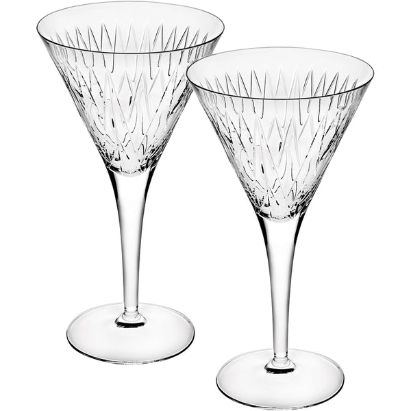 Set of 2 Astro Martini Glasses