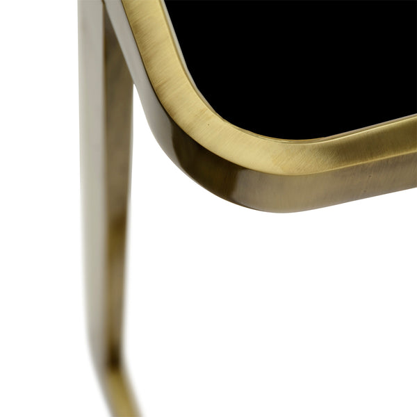 Jean Side Table - Black Glass Marioni Jean Side Table - Black Glass