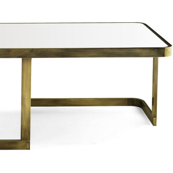 Jean Coffee Table - White Glass Marioni Jean Coffee Table - White Glass