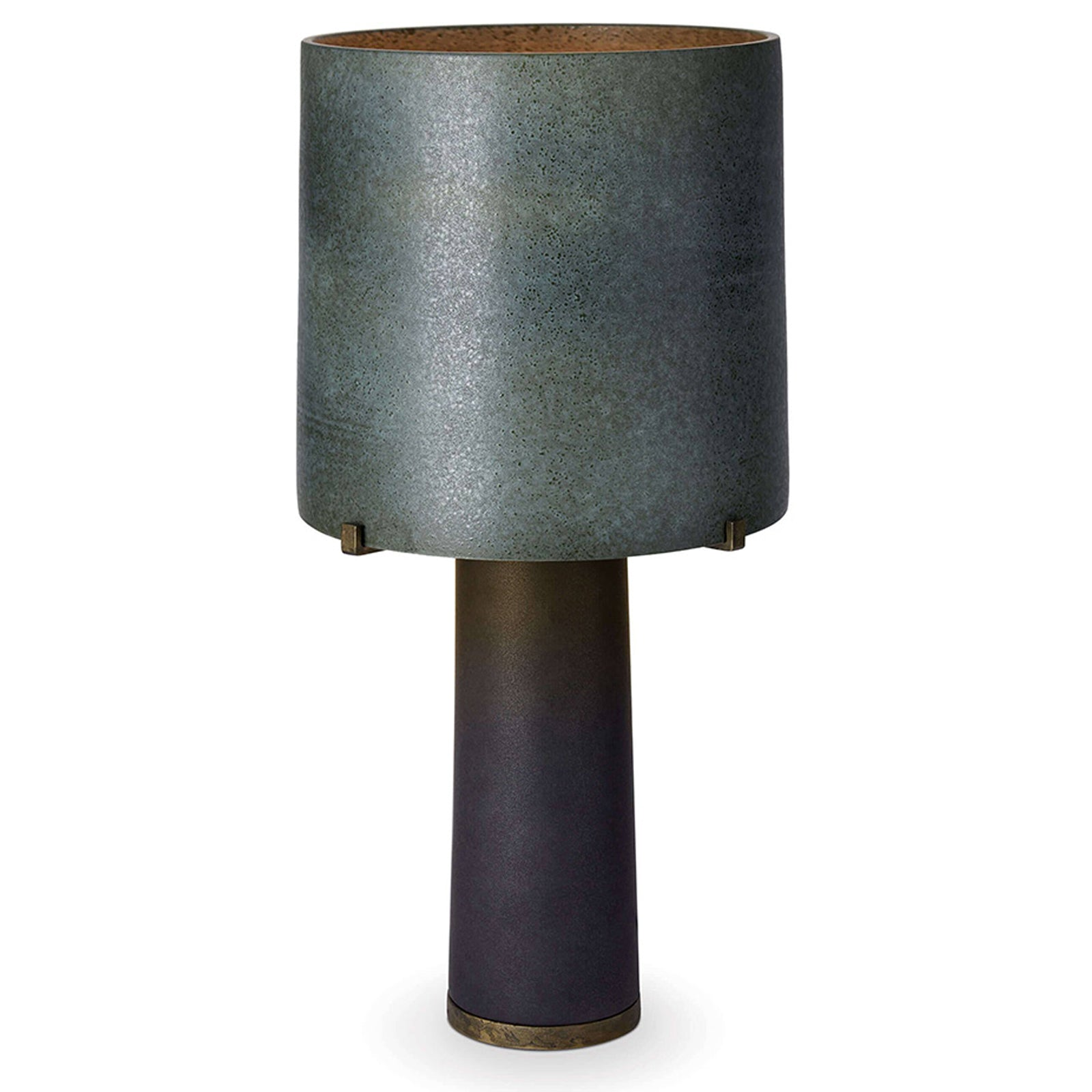 Pakal Table Lamp - Green Shade & Black Base