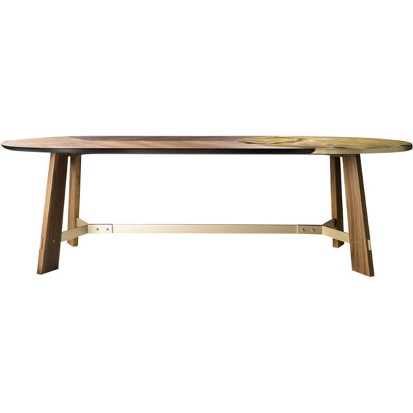 Opera Dining Table Black Tie Walnut