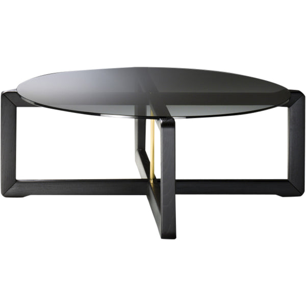 Manolo Coffee Table Black Tie Ash-&-Glass