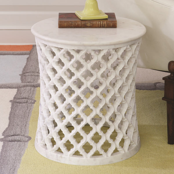 Marble Arabesque Side Table LuxDeco Marble Arabesque Side Table