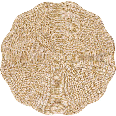 Glimmer & Shimmer Round Scallop Placemat