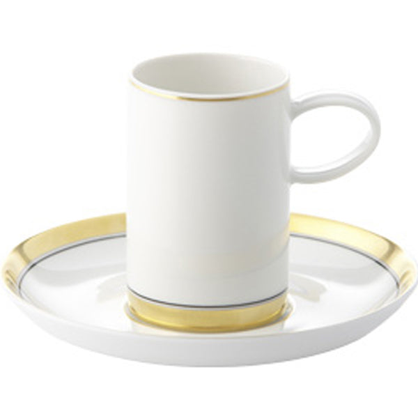 Domo Gold Coffee Cup and Saucer