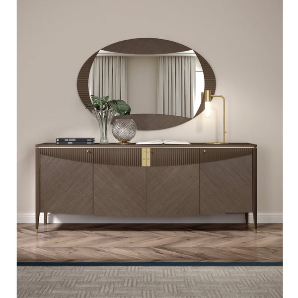 Contemporary 4 Doors Sideboard CARPANESE HOME ITALIA Contemporary 4 Doors Sideboard