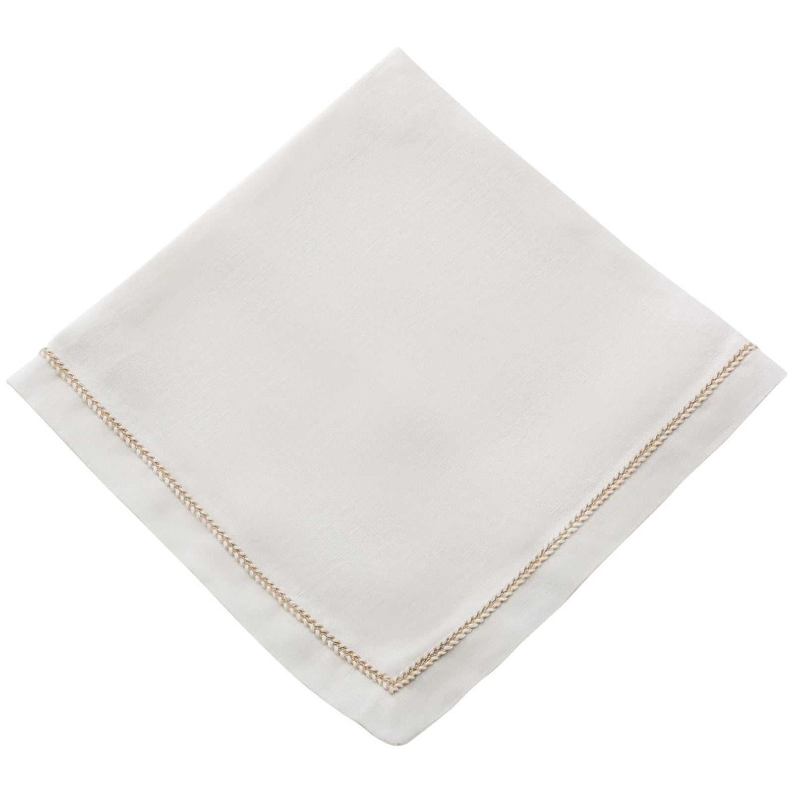 Set of 4 Twist Dinner Napkin Eggshell