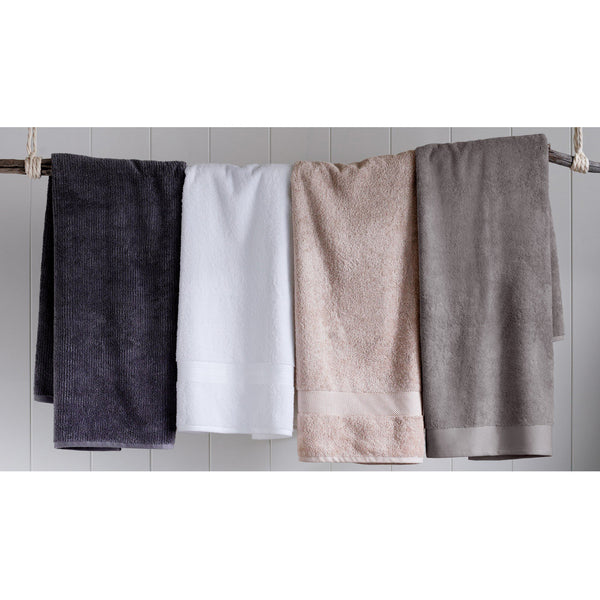 Living Textures Bath Sheet - Pumice Sheridan Living Textures Bath Sheet - Pumice