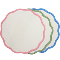 Border Scallop Placemat LuxDeco Border Scallop Placemat