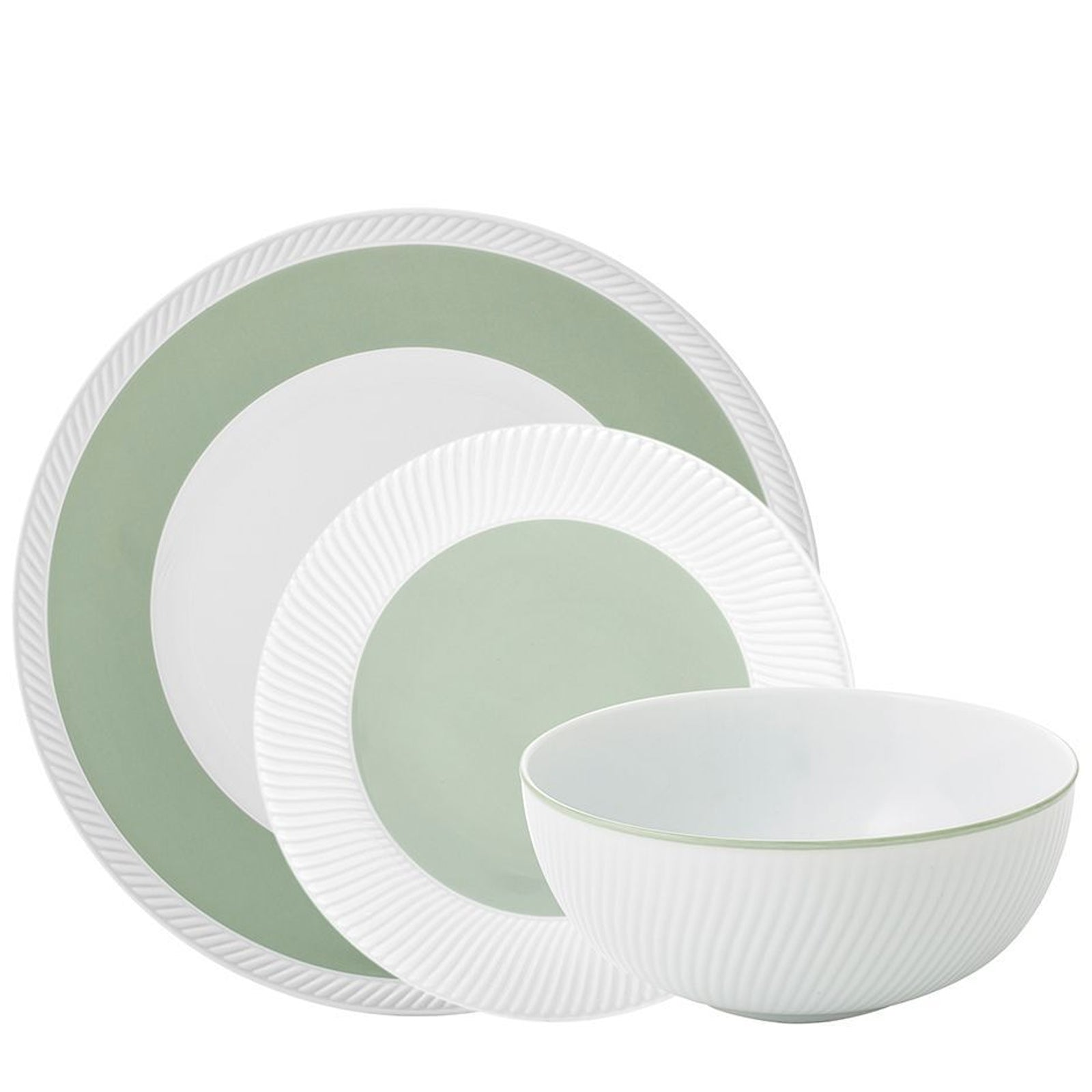 Twist Sage 3-Piece Dinnerware Set