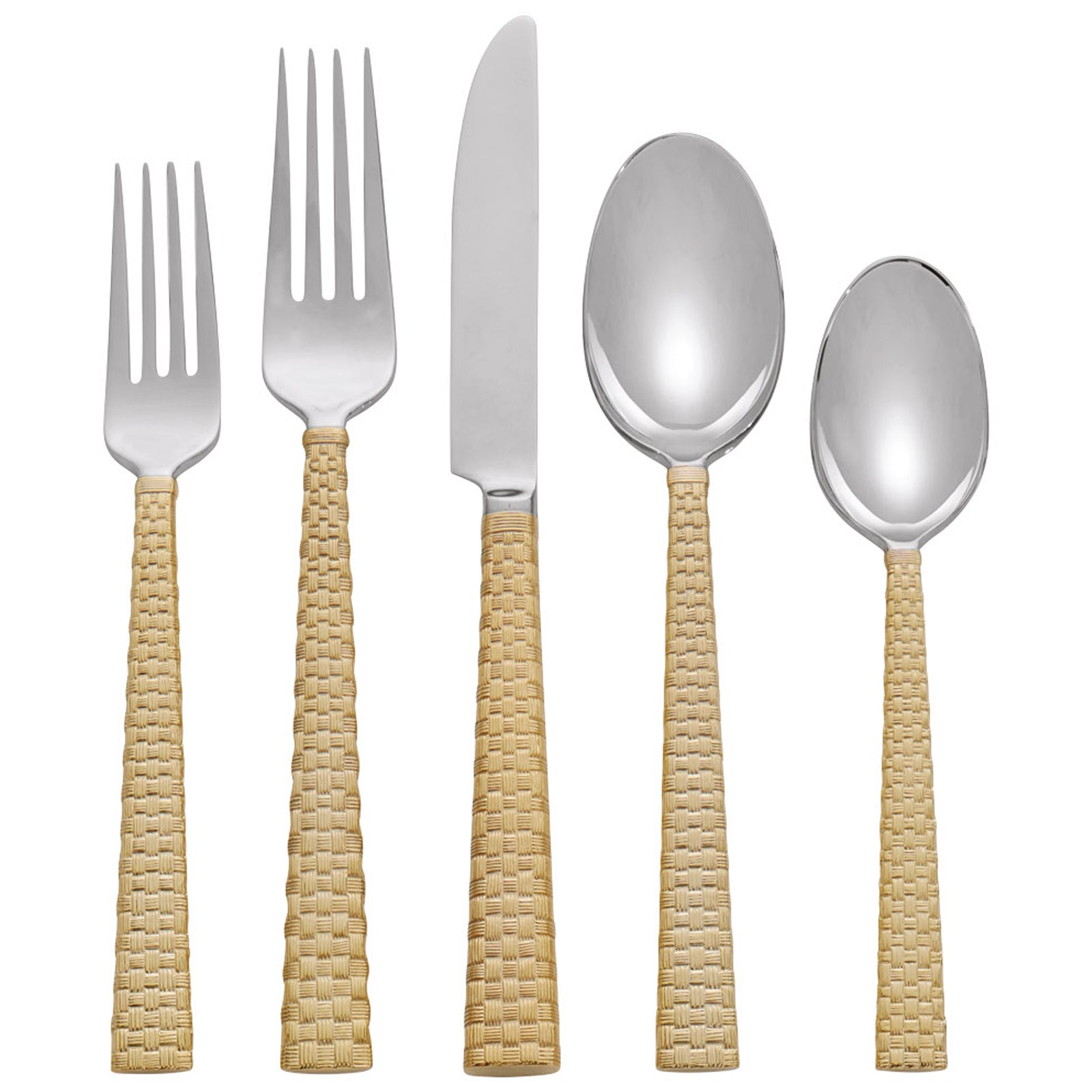 Palm Gold 5 Piece Flatware Set