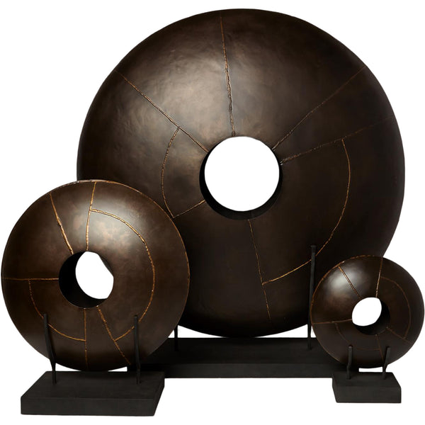 Bronze Disc Sculpture LuxDeco Bronze Disc Sculpture
