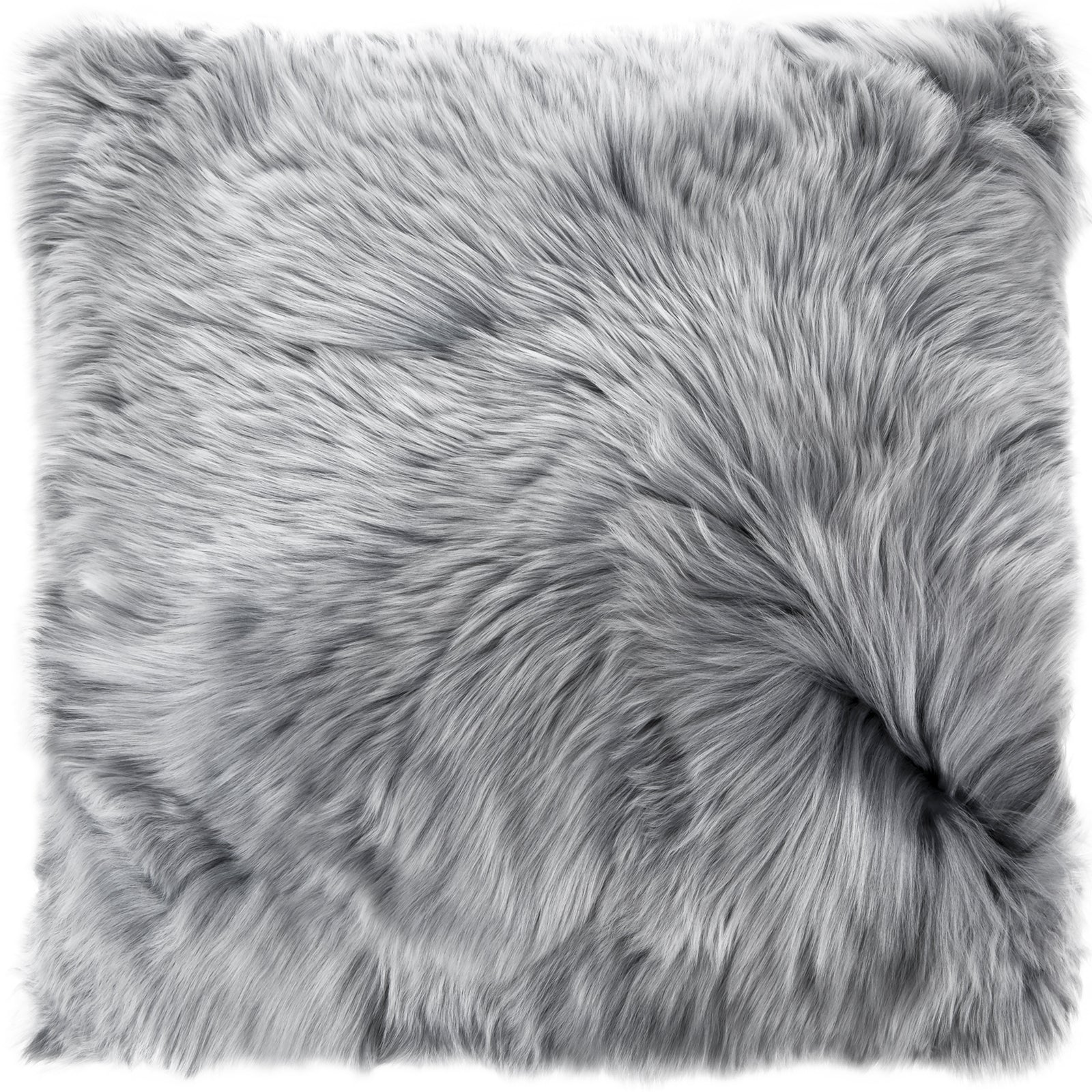 Luxury Fur Silver Grey Cushion