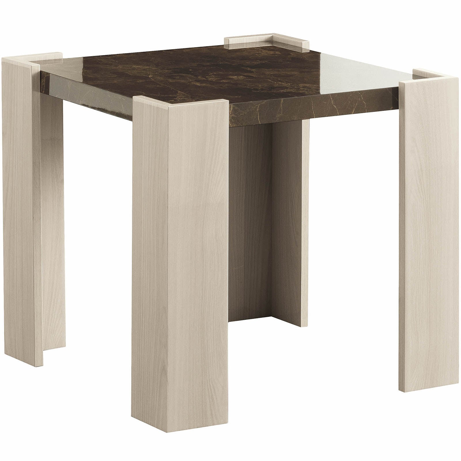 Aria Lamp Table | White Side Table