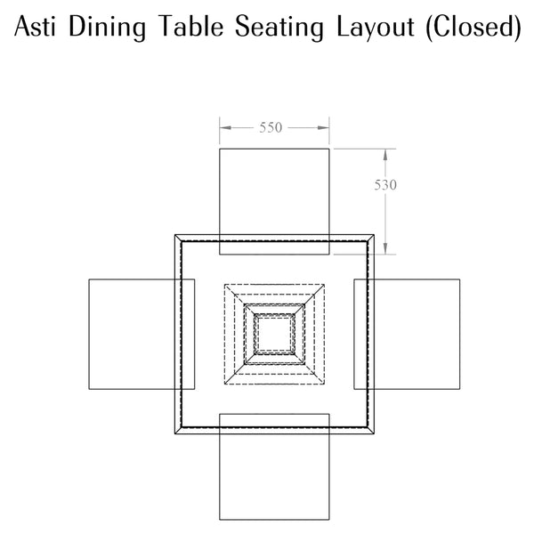 Asti Extending Dining Table William Yeoward Asti Extending Dining Table