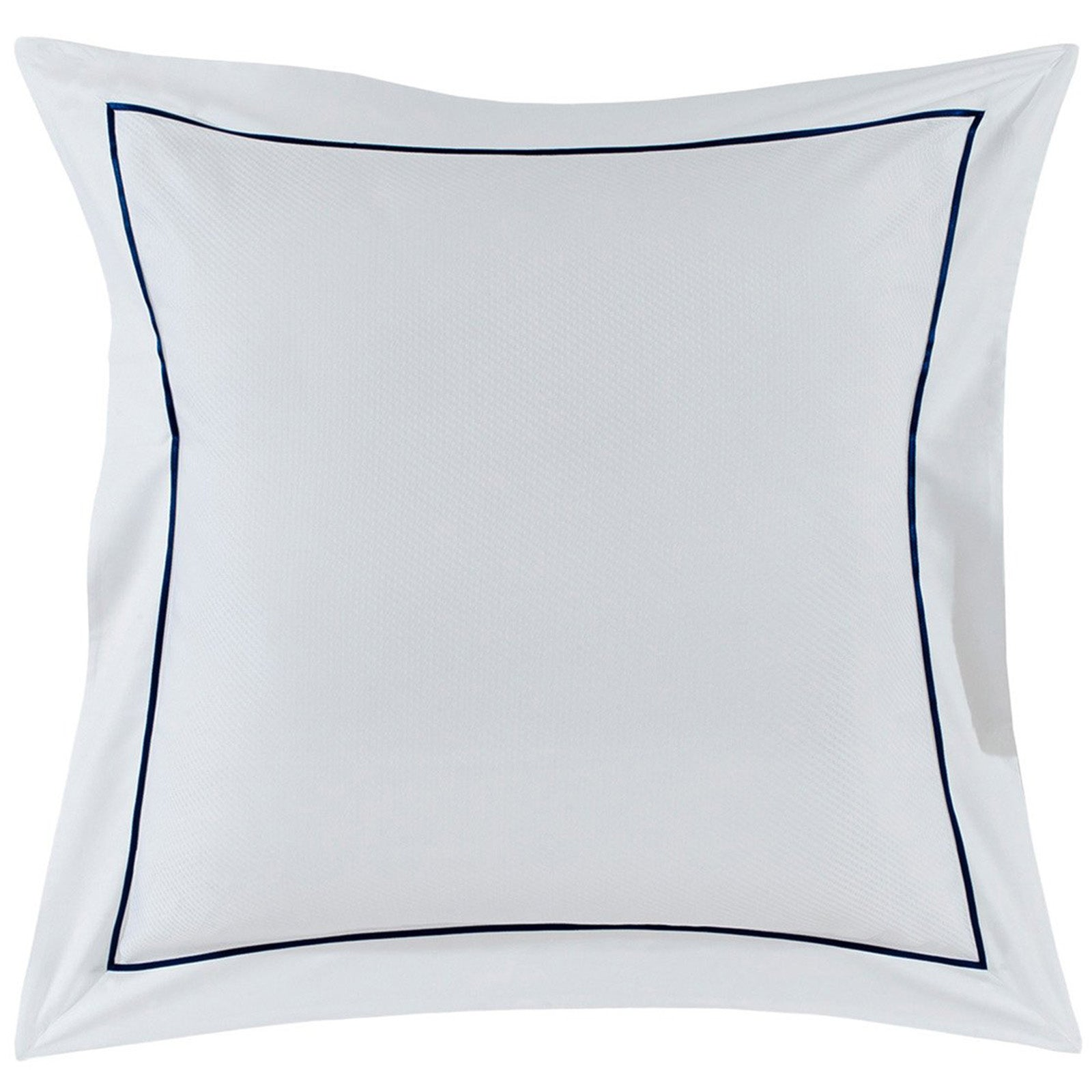 Alma White & Navy Square Oxford Pillowcase