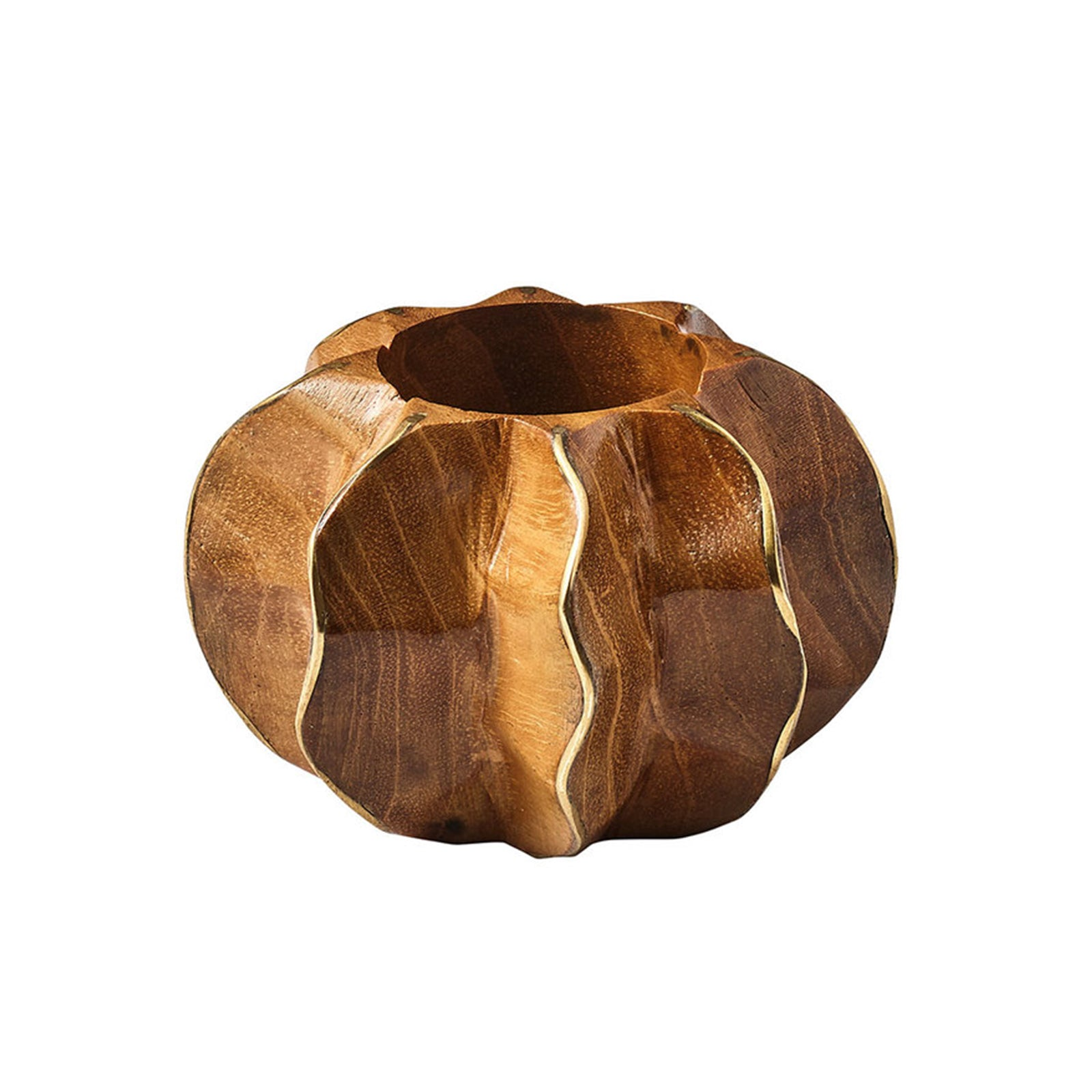 Brown & Gold Twist Napkin Ring