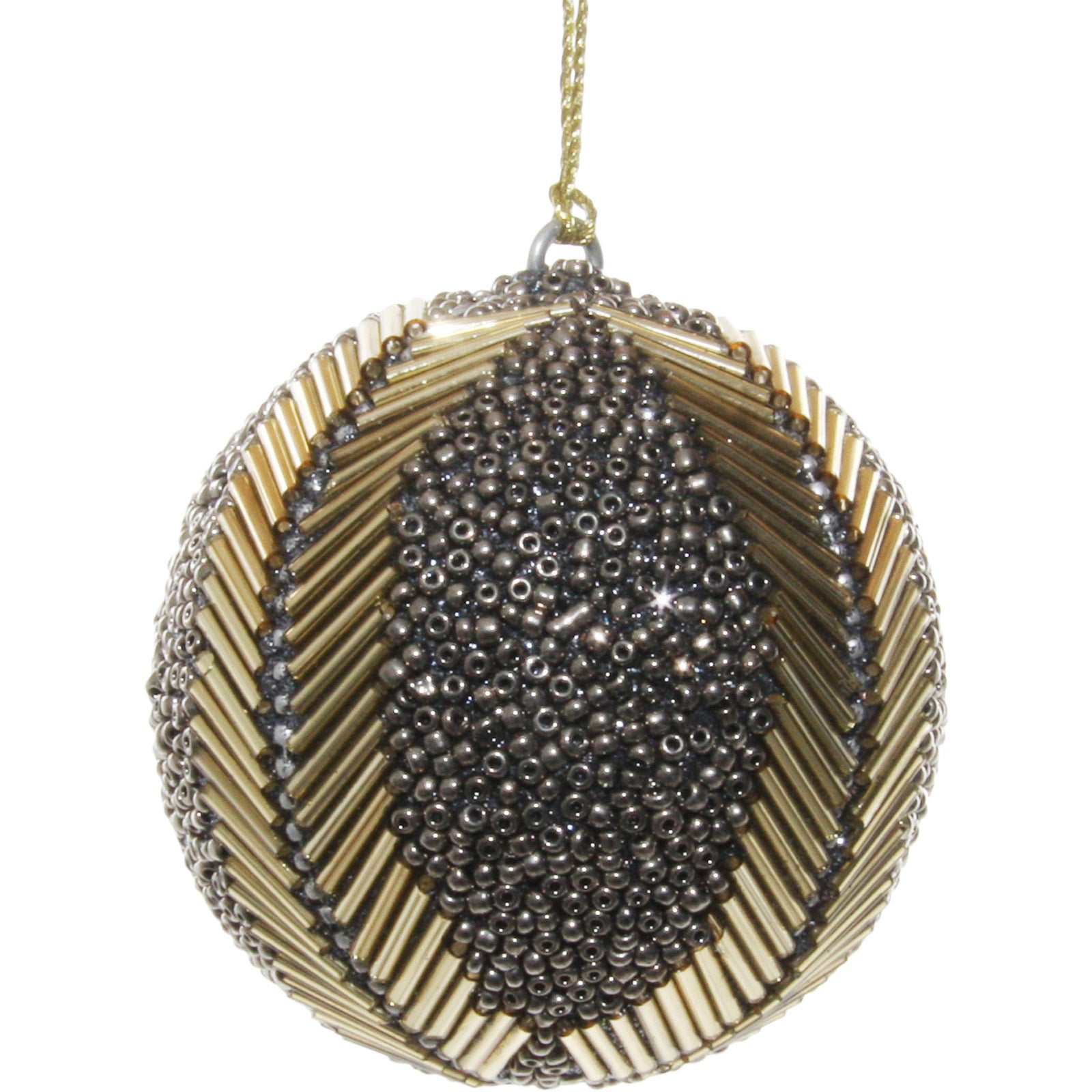 Beaded 4 Line Bauble by LuxDeco - Christmas tree decoration ornament - LuxDeco.com
