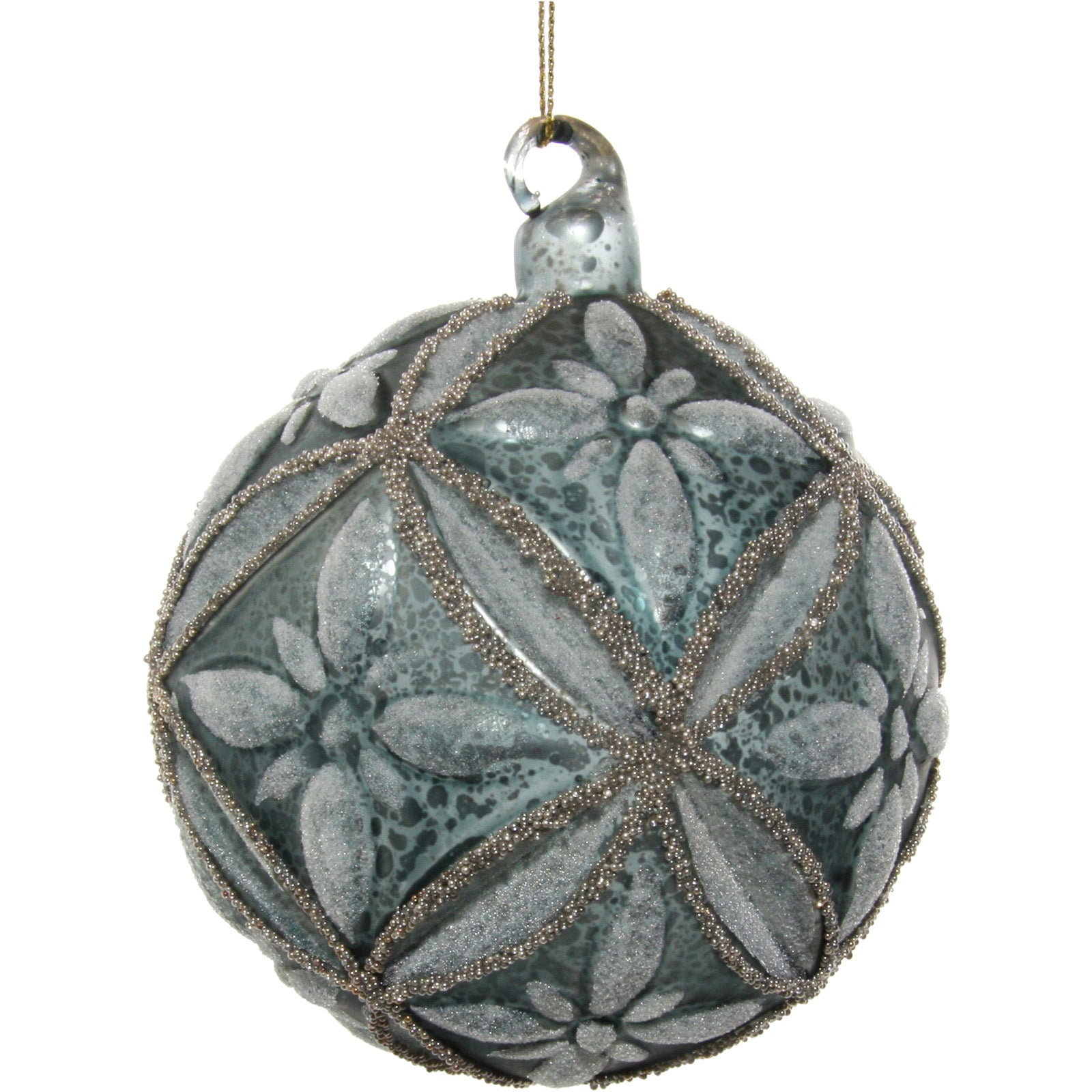 Floral Glass Bauble