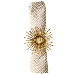 Brown & Gold Flare Napkin Ring Kim Seybert Brown & Gold Flare Napkin Ring