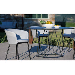 Desiree Metal Dining Table Vermobil Desiree Metal Dining Table