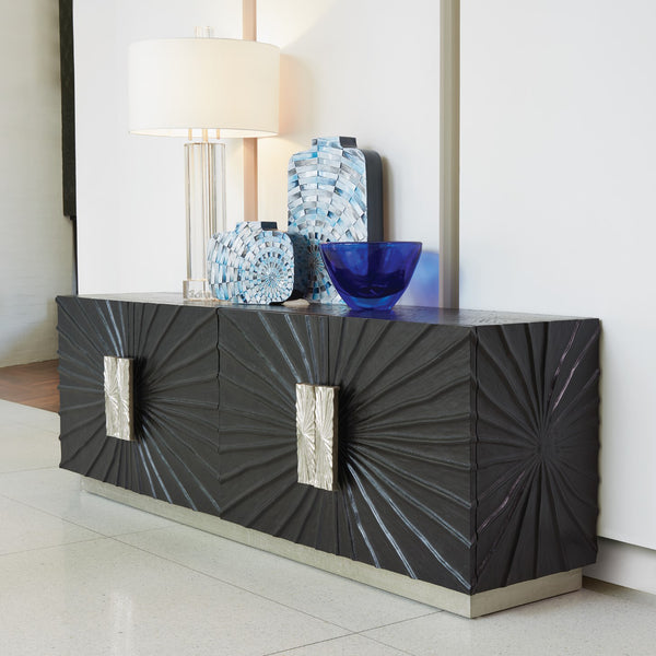 Pleated Media Cabinet LuxDeco Pleated Media Cabinet