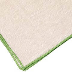 Green and Natural Contrast Edge Napkin LuxDeco Green and Natural Contrast Edge Napkin