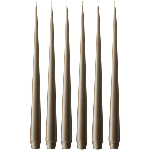 Bronze Taper Candle Set of 12
