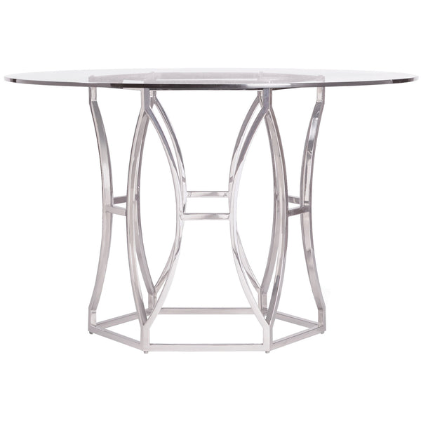 Argent Round Metal Dining Table Bernhardt Argent Round Metal Dining Table