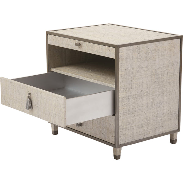 Argento Bedside Chest Global Views Argento Bedside Chest