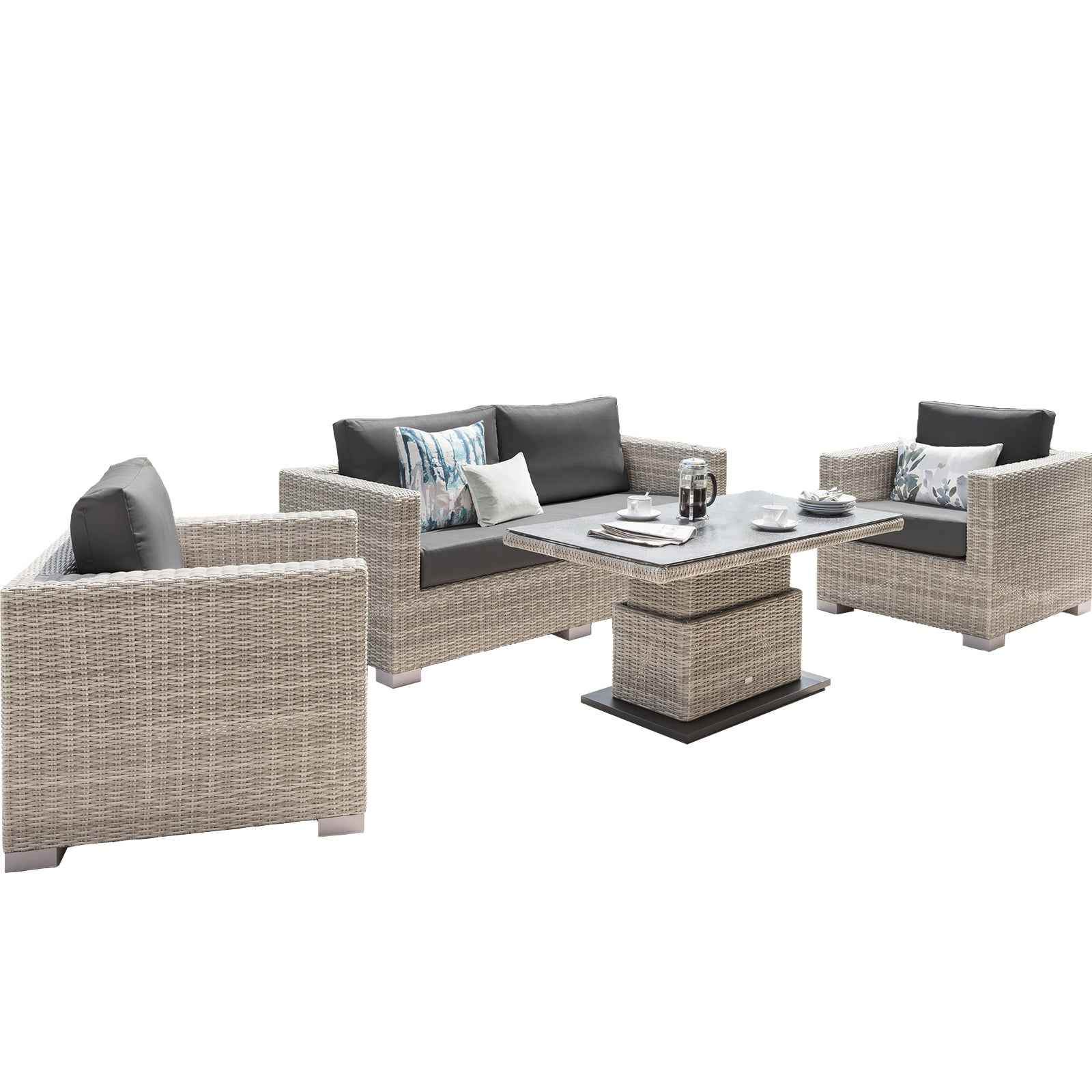 Aya Sofa Set with Adjustable Table