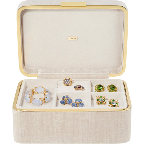 London Fog Beauvais Velvet Jewelry Box AERIN London Fog Beauvais Velvet Jewelry Box