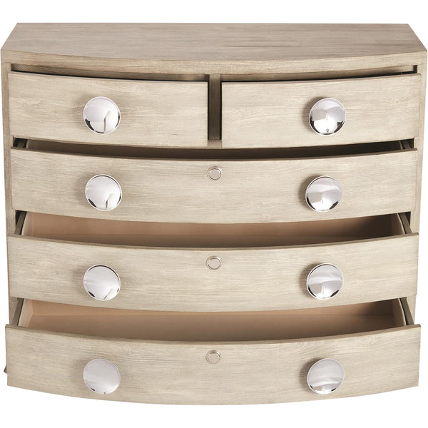 Bow Front Five Drawer Dresser LuxDeco Bow Front Five Drawer Dresser