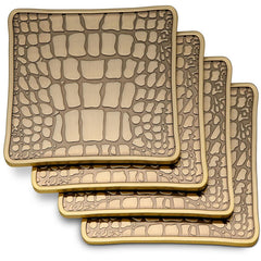 Set of 4 Crocodile Coasters L'Objet Set of 4 Crocodile Coasters
