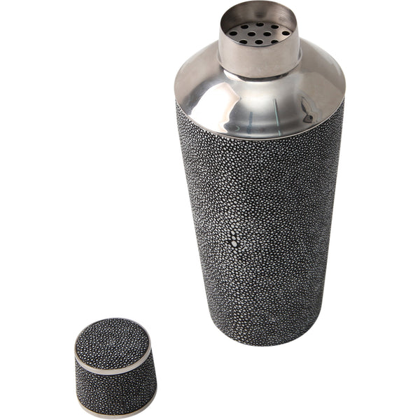 Shagreen Cocktail Shaker Charcoal Forwood Design Shagreen Cocktail Shaker Charcoal