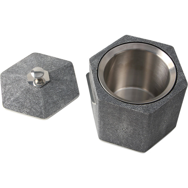 Shagreen Ice Bucket - Charcoal Forwood Design Shagreen Ice Bucket - Charcoal