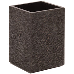 Chelsea Toothbrush Holder  Shagreen Chocolate Posh Trading Company Chelsea Toothbrush Holder  Shagreen Chocolate