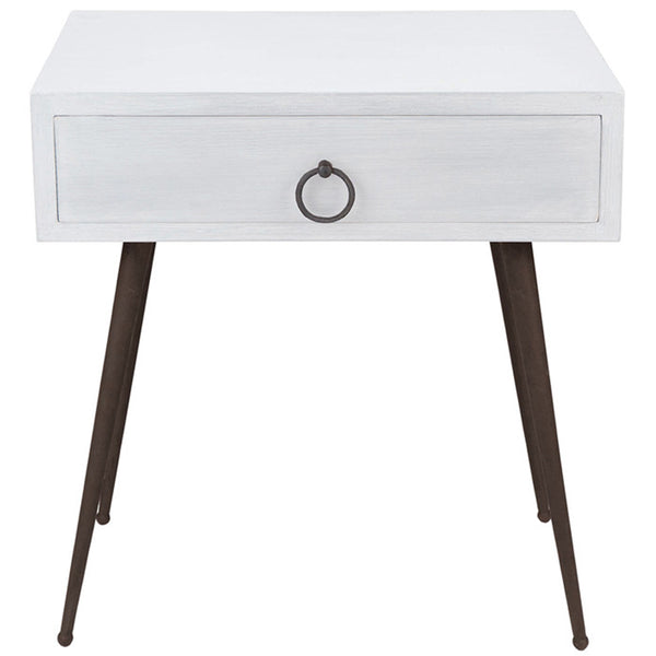 Chloe Bedside Table LuxDeco White
