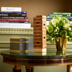 Chocolate Shagreen JENGA® Set AERIN Chocolate Shagreen JENGA® Set