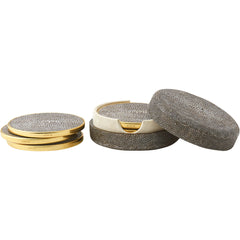 Chocolate Shagreen Coasters AERIN Chocolate Shagreen Coasters