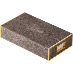 Chocolate Shagreen Oversized Match Box AERIN Chocolate Shagreen Oversized Match Box