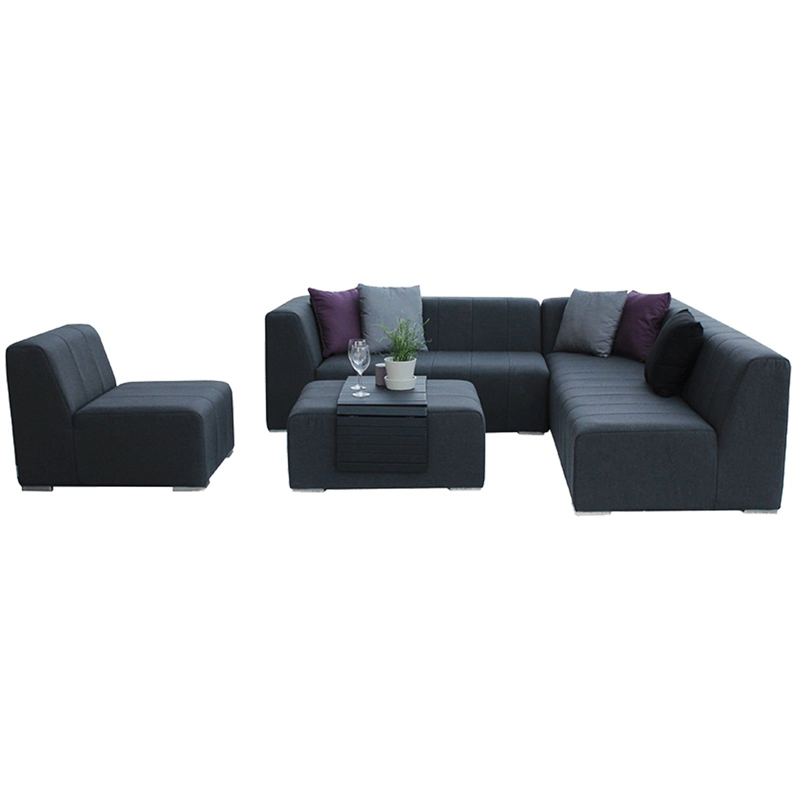 Cube Complete Corner Seating With Ottoman