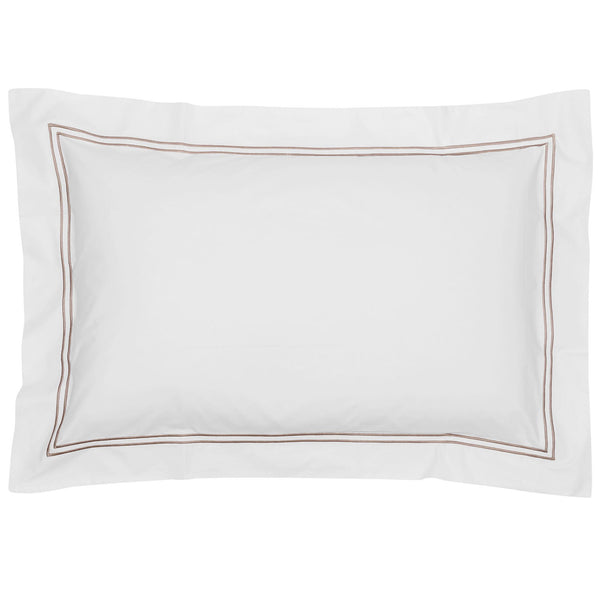 Draycott 2 Row Cord Oxford Standard Pillowcase Taupe LuxDeco Draycott 2 Row Cord Oxford Standard Pillowcase Taupe