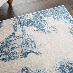 Etching Rug Blue Nourison Etching Rug Blue